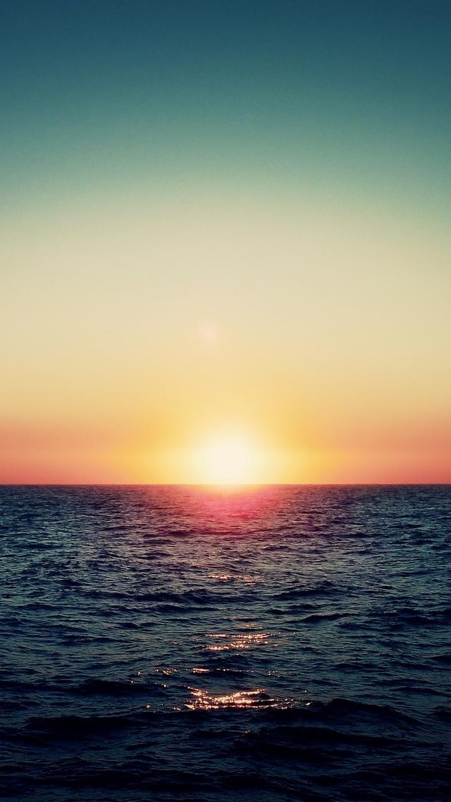 Ocean Sunset iPhone 5s Wallpaper Download iPhone Wallpapers iPad 640x1136