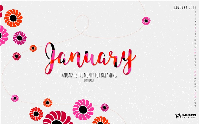 Janvier 2018 Calendriers HD Fond dcran Liste dalbums 700x437