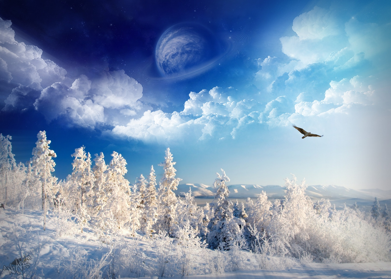 1600x1200 Winter Wonderland desktop PC and Mac wallpaper 1600x1142