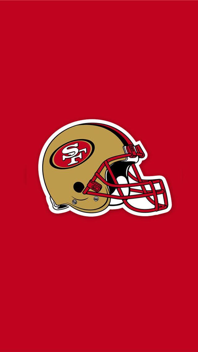 San Francisco 49ers Helmet iPhone 5 Wallpaper 640x1136 640x1136