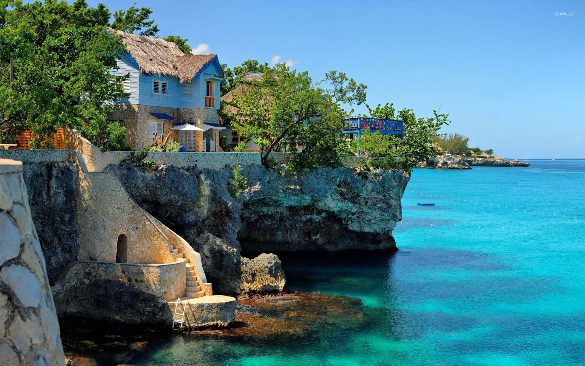 coastal house in negril jamaica wallpaper beach wallpapers 26264