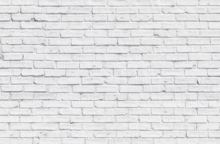 Clean White Brick Wallpaper Wall Mural