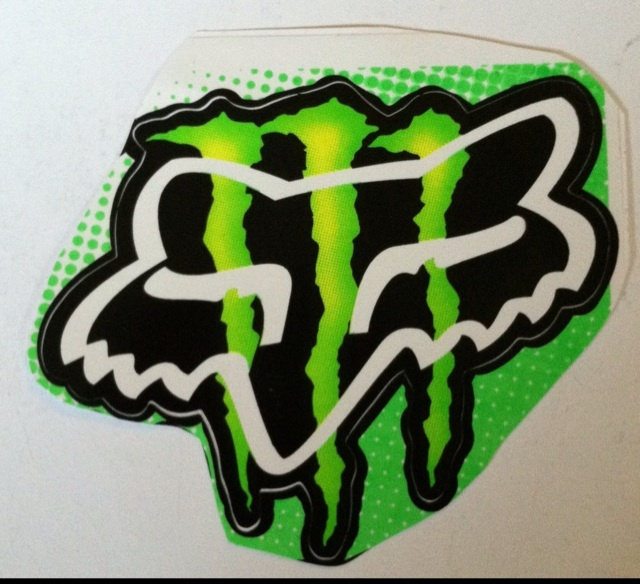 Stuff New Monster Energy With Fox Head Logo Racing Sticker 640x584