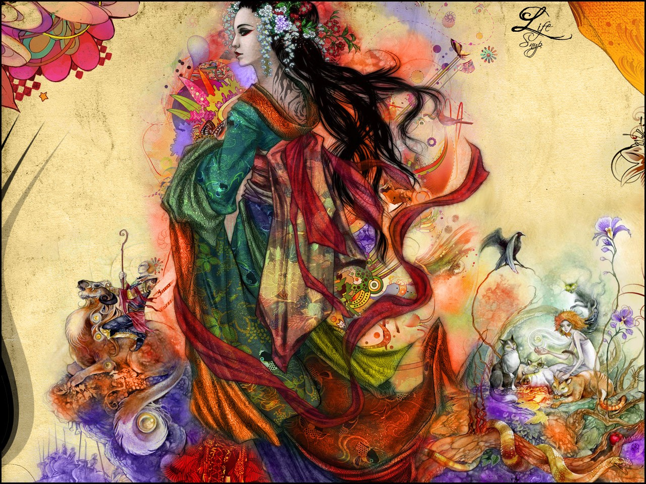 Download Geisha Wallpaper 1280x960 Wallpoper 341816 1280x960