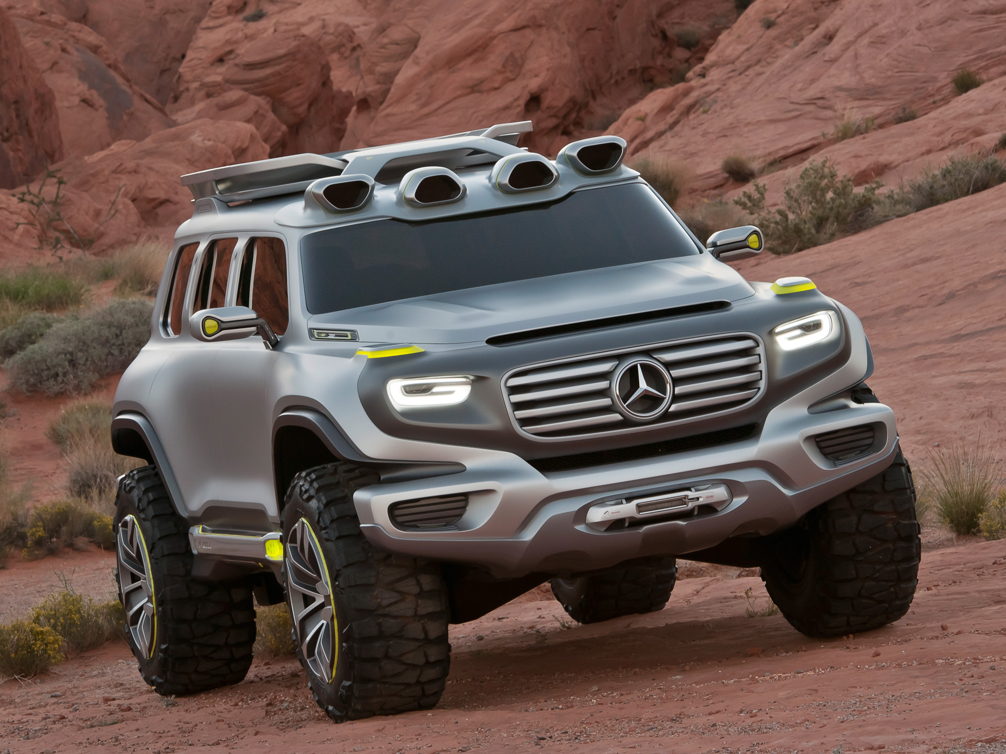 mercedes trucks suv concept 4x4 wallpaper background 2048x1536