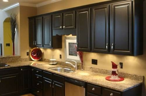 Black Country Kitchen Cabinets Home Designs Wallpapers