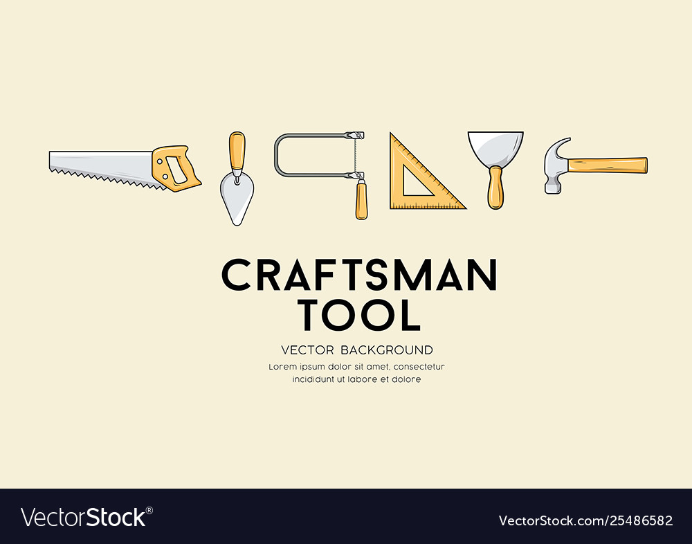 Craftsman tool design background Royalty Vector Image 1000x786