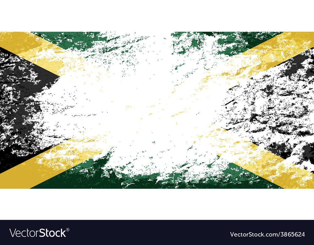 Jamaican flag grunge background Royalty Vector Image 1000x780