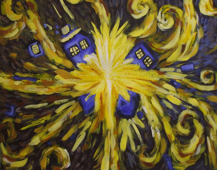 TARDIS Van Gogh Painting by Alien-mart on DeviantArt