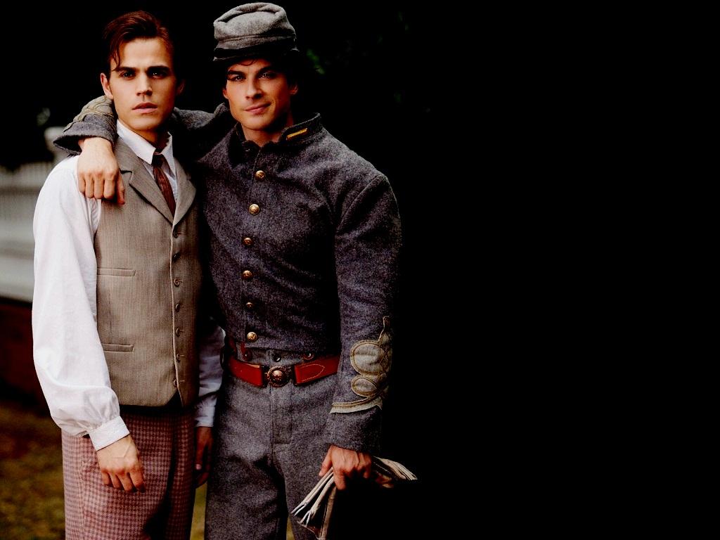 DamonStefan   Damon and Stefan Salvatore Wallpaper 24875562 1024x768