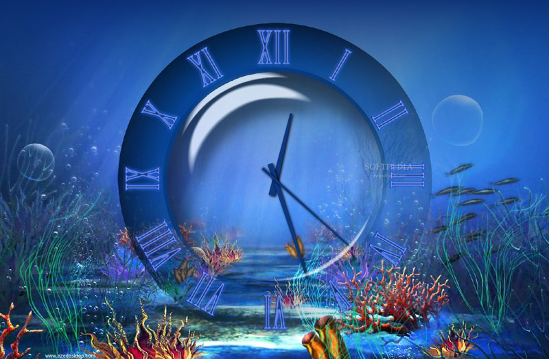 Aquatic Clock Screensaver 30 for Windows 81 800x524
