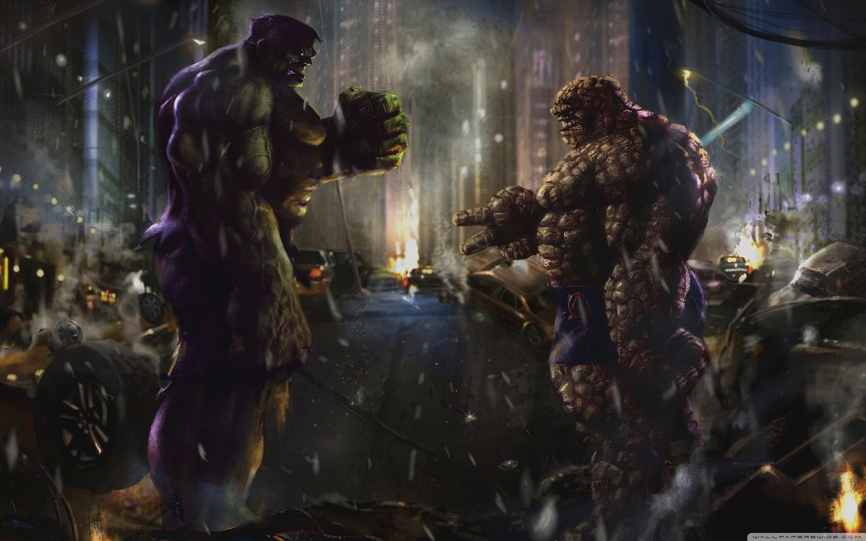 Hulk vs Thing 4K HD Desktop Wallpaper for 4K Ultra HD TV 2880x1800