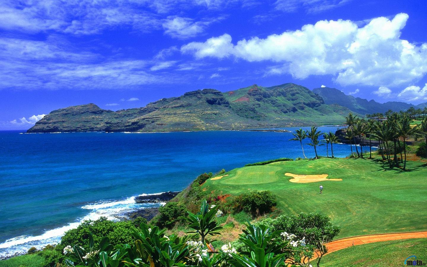 Wallpaper Golf Course in Hawaii 1440 x 900 widescreen Desktop 1440x900