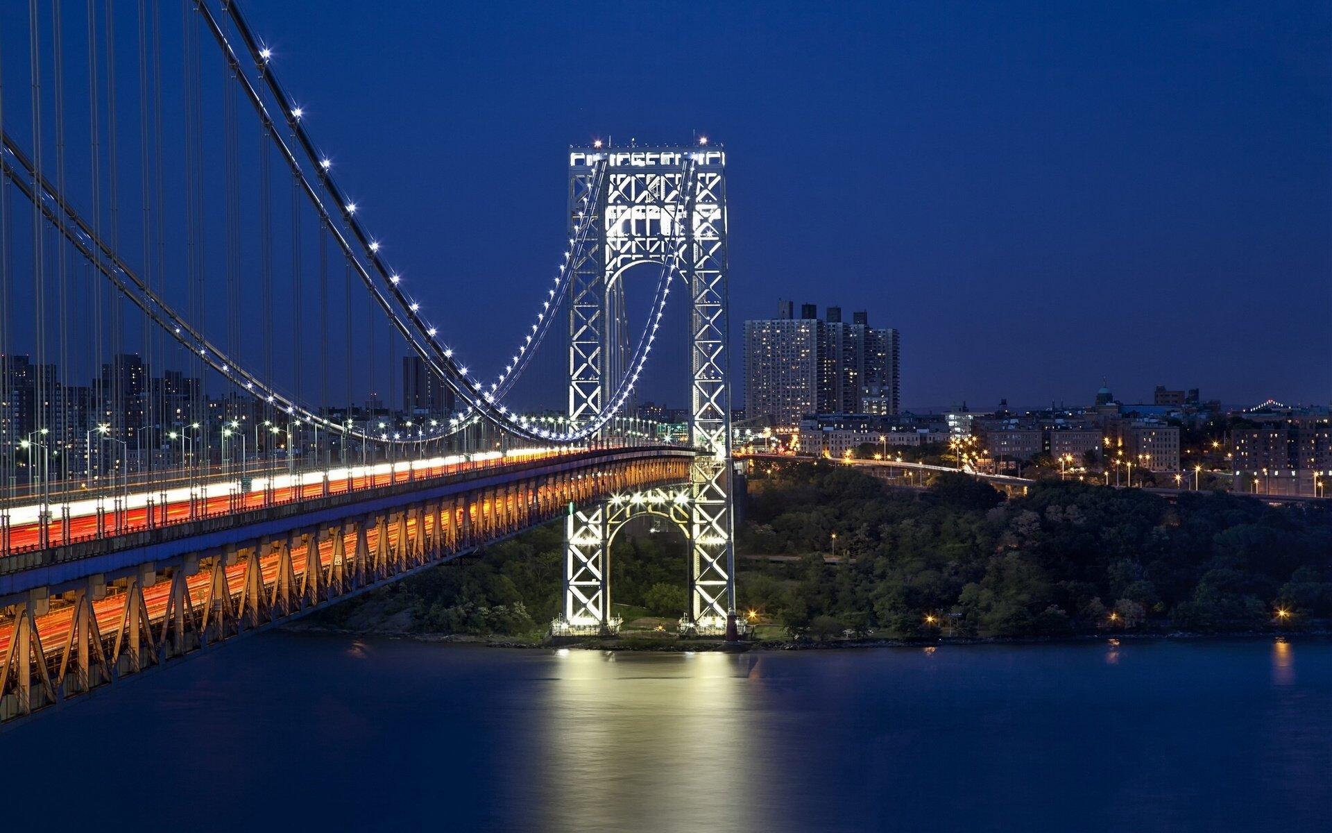 George Washington Bridge New York City wallpaper 1920x1200 1920x1200
