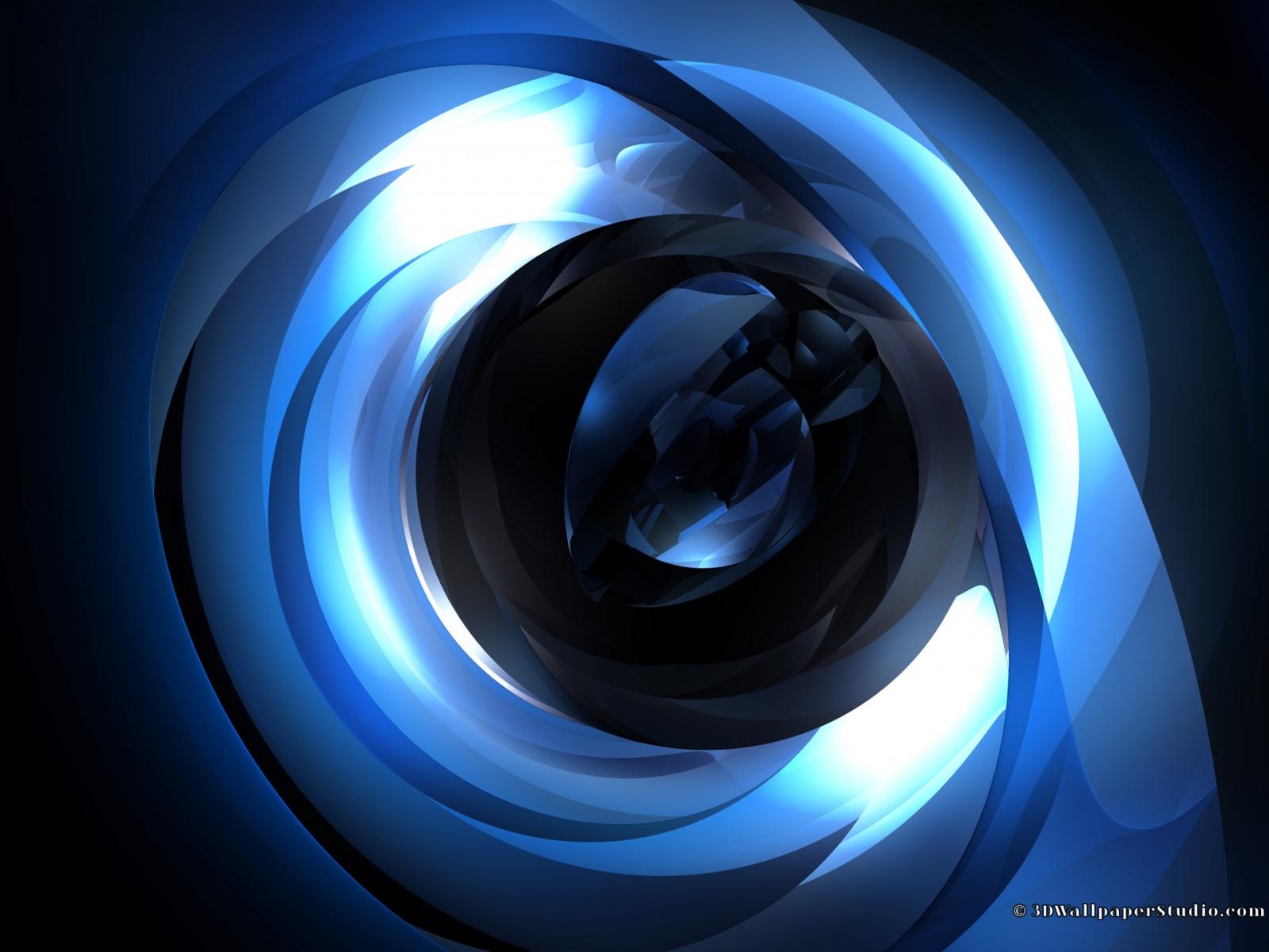 3D Wallpaper Blue centroid 3D 1600 x 1200 1600x1200