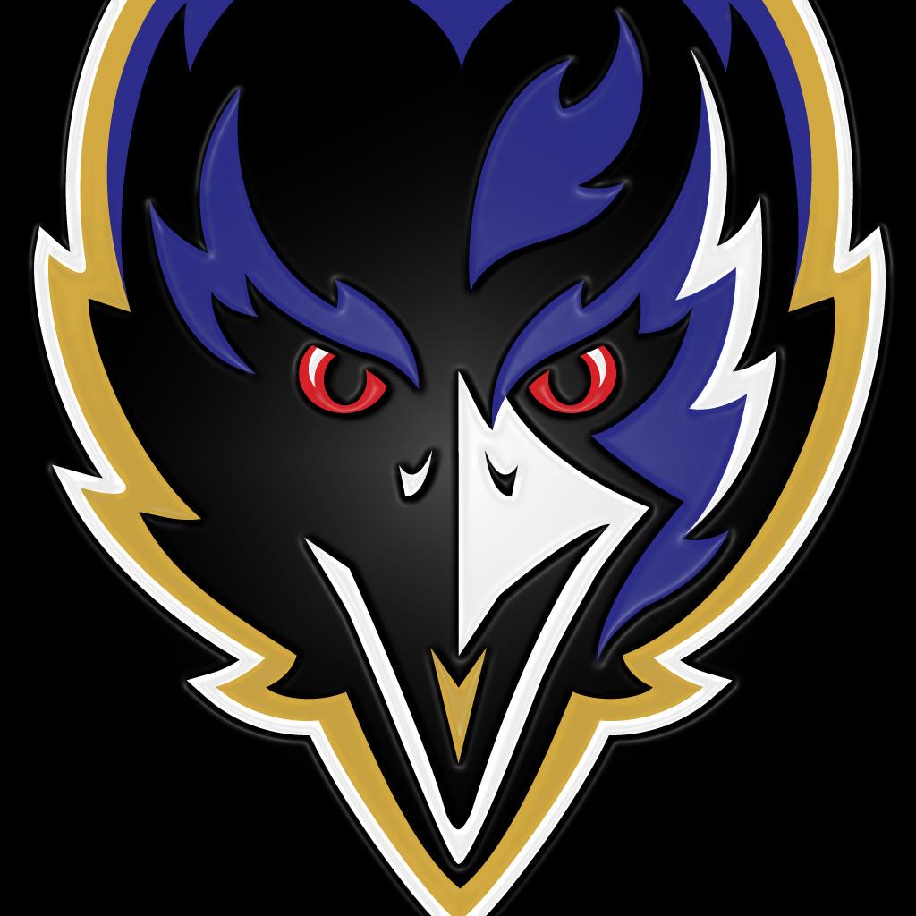baltimore ravens bird black embossed ipad1024x1024jpg phone wallpaper 1024x1024