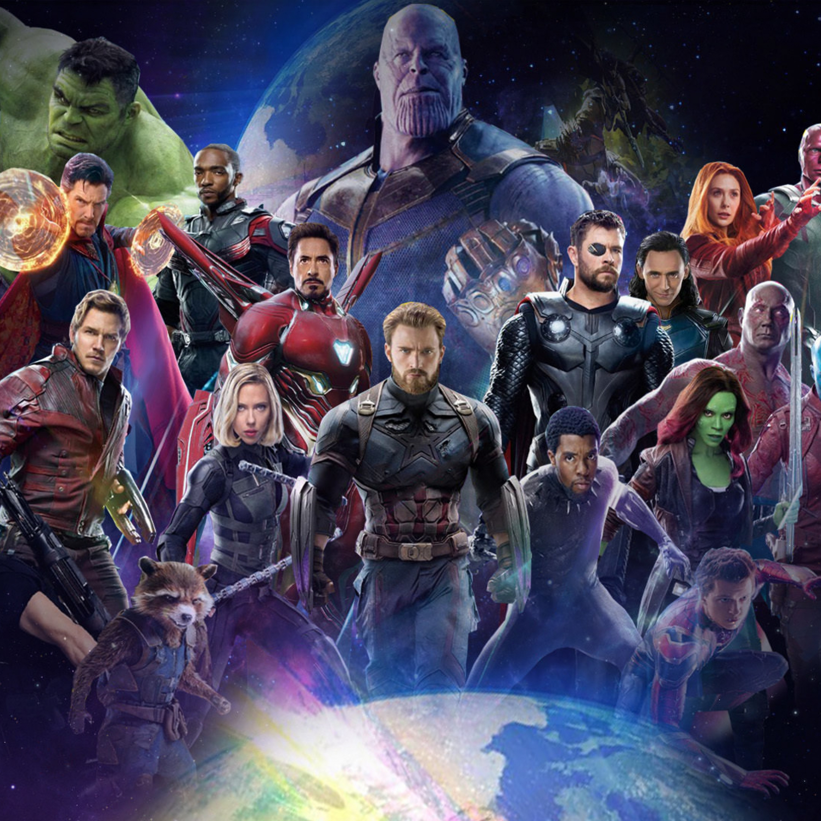 Download Avengers 4 All Superheroes Fan Made Poster Apple iPad Air 2780x2780