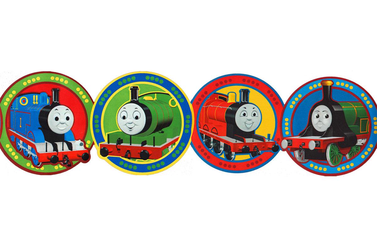 Thomas Train Circles Prepasted Wall Border Roll 1200x800