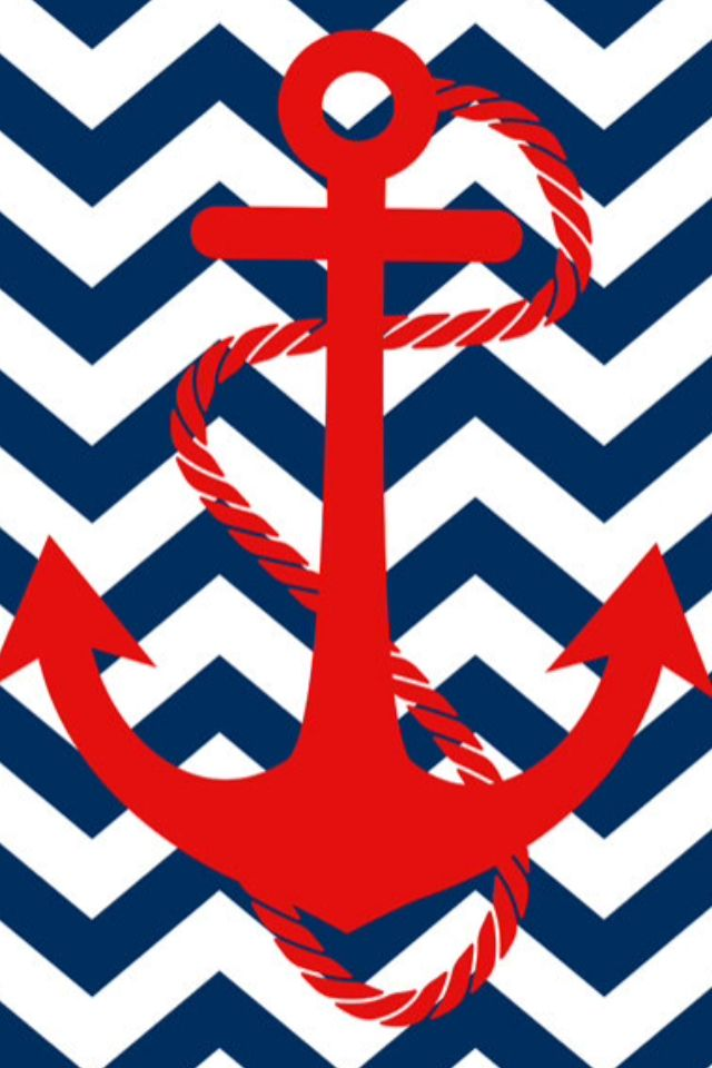 Anchor and Chevron Wallpaper Wallpaper Pinterest 640x960
