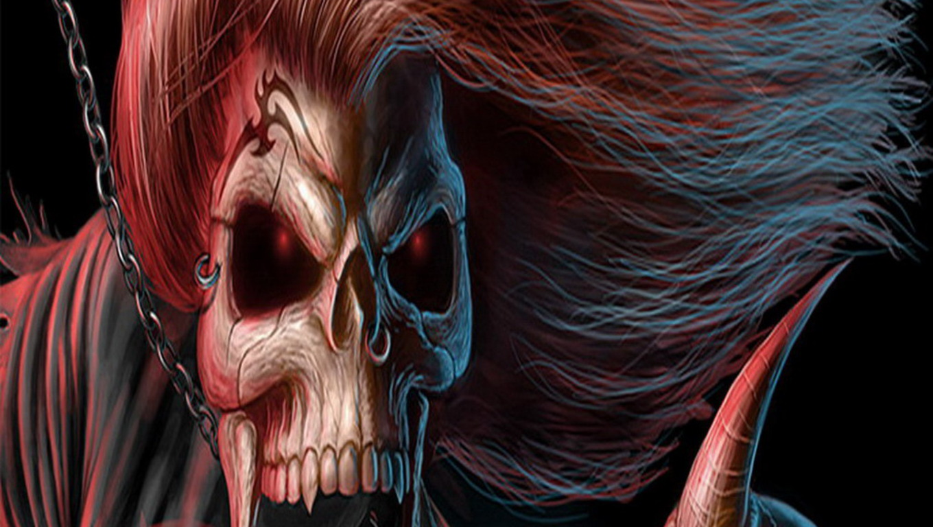 Images For Evil Skull Wallpapers 1360x768