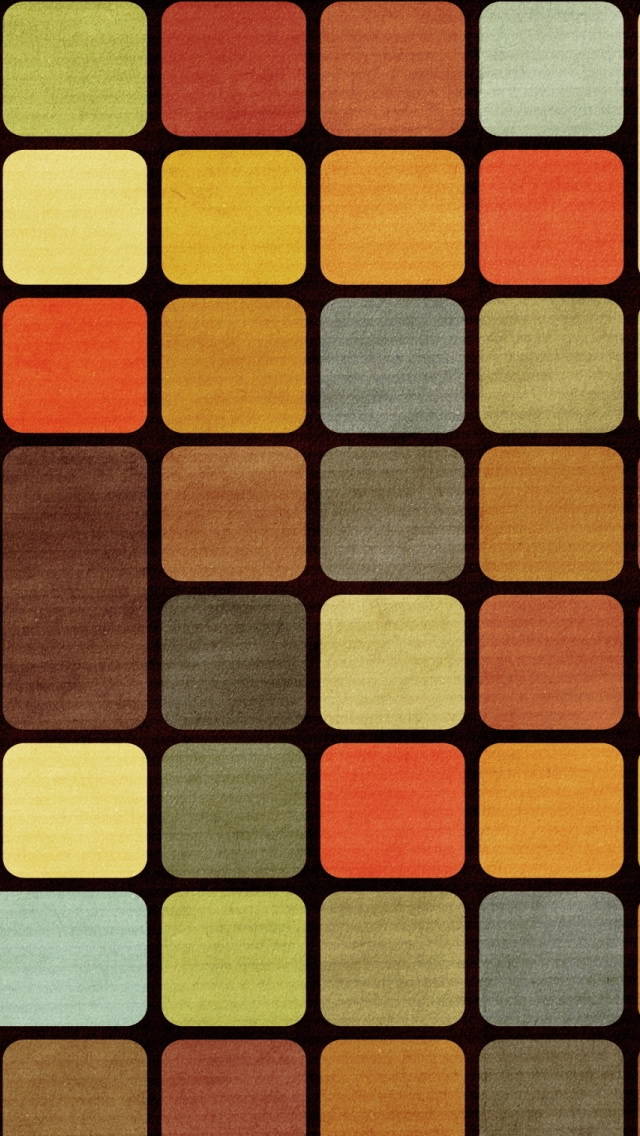 Cube Squares Retro iPhone 5s Wallpaper Download iPhone Wallpapers 640x1136