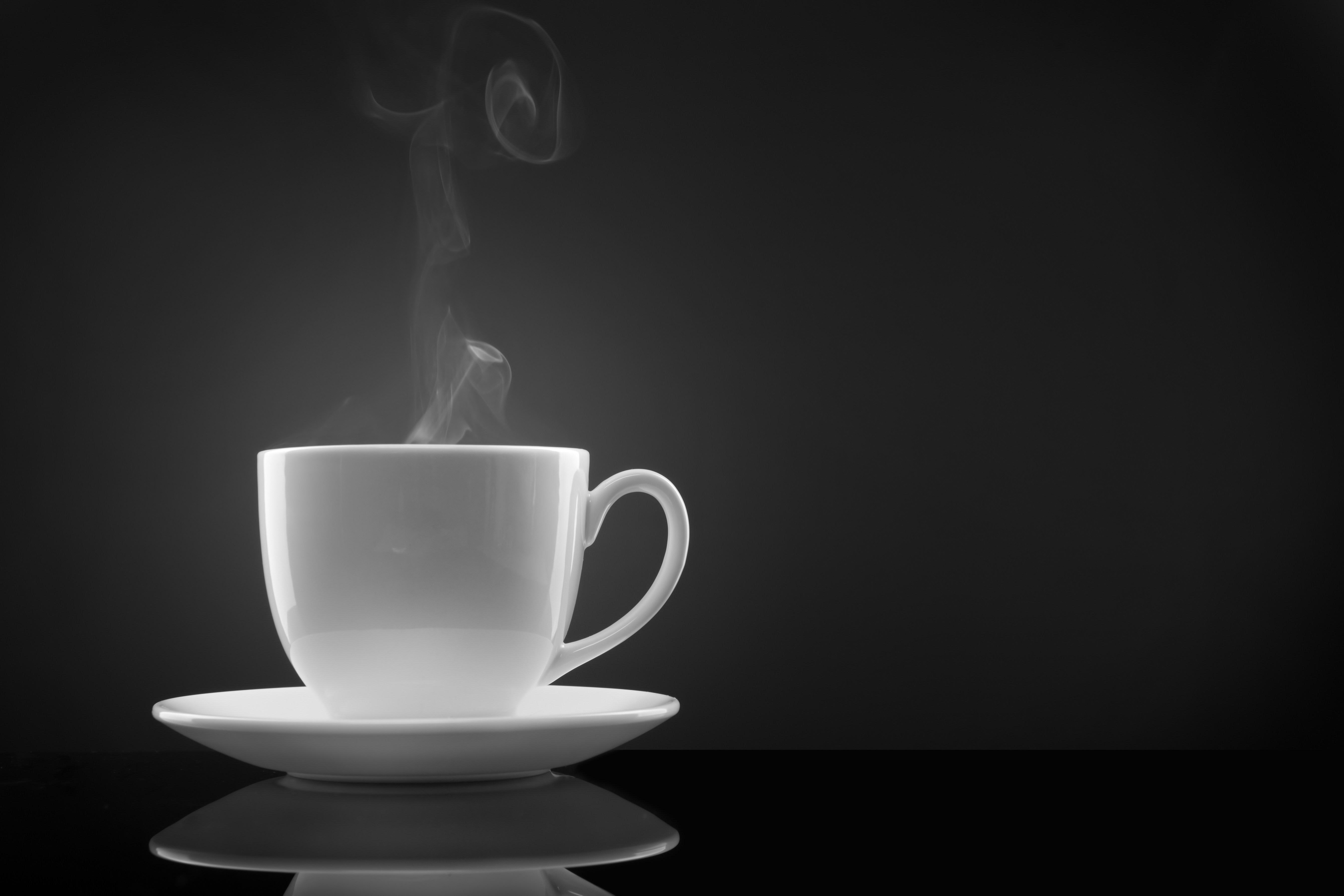 hot coffee white background - photo #43