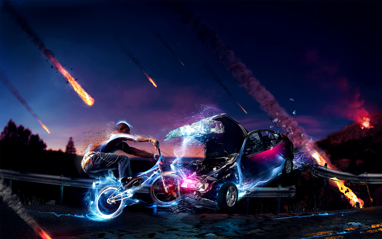 BMX HD wallpaper background 3D wallpapers Acer Iconia Tab A100 1280x800