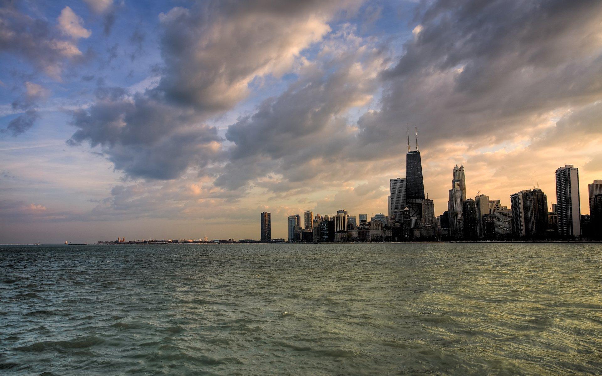 Chicago Skyline Winter Wallpaper Desktop - WallpaperSafari