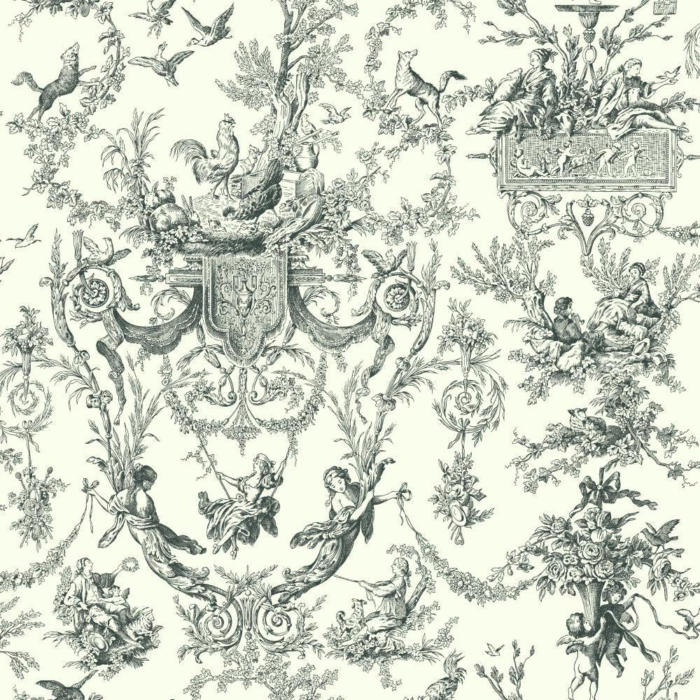Romano Old World Toile Wallpaper [SOY 85006] Designer Wallcoverings 1000x1000