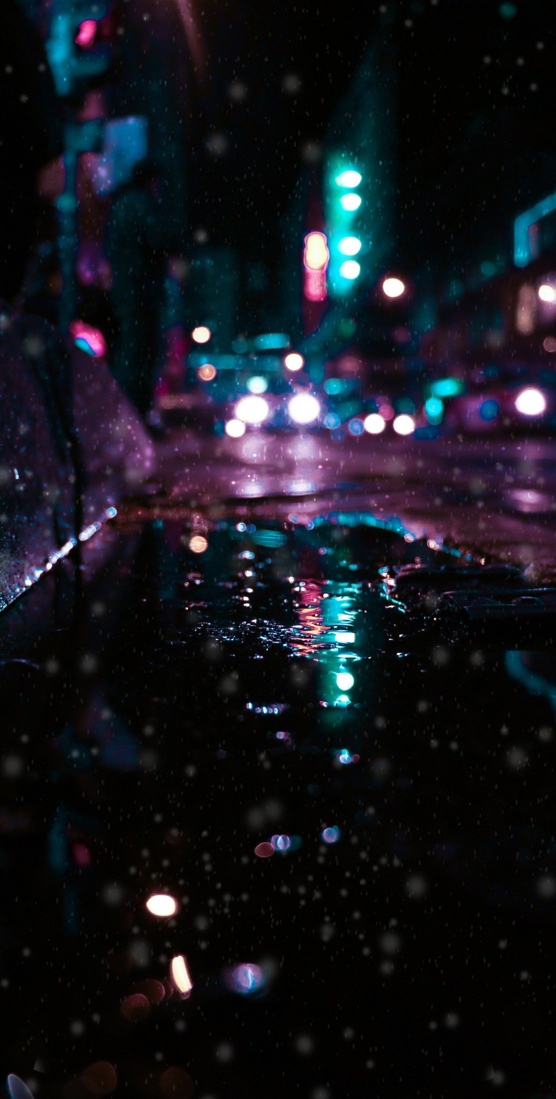 4k Wallpaper Follow me With images Rainy wallpaper Neon 1112x2196