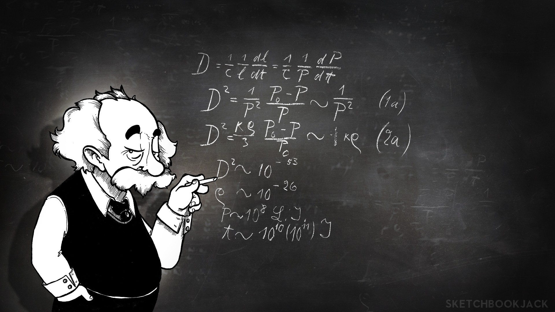 albert Einstein Physics Chalk Board Math Wallpapers HD 1920x1080