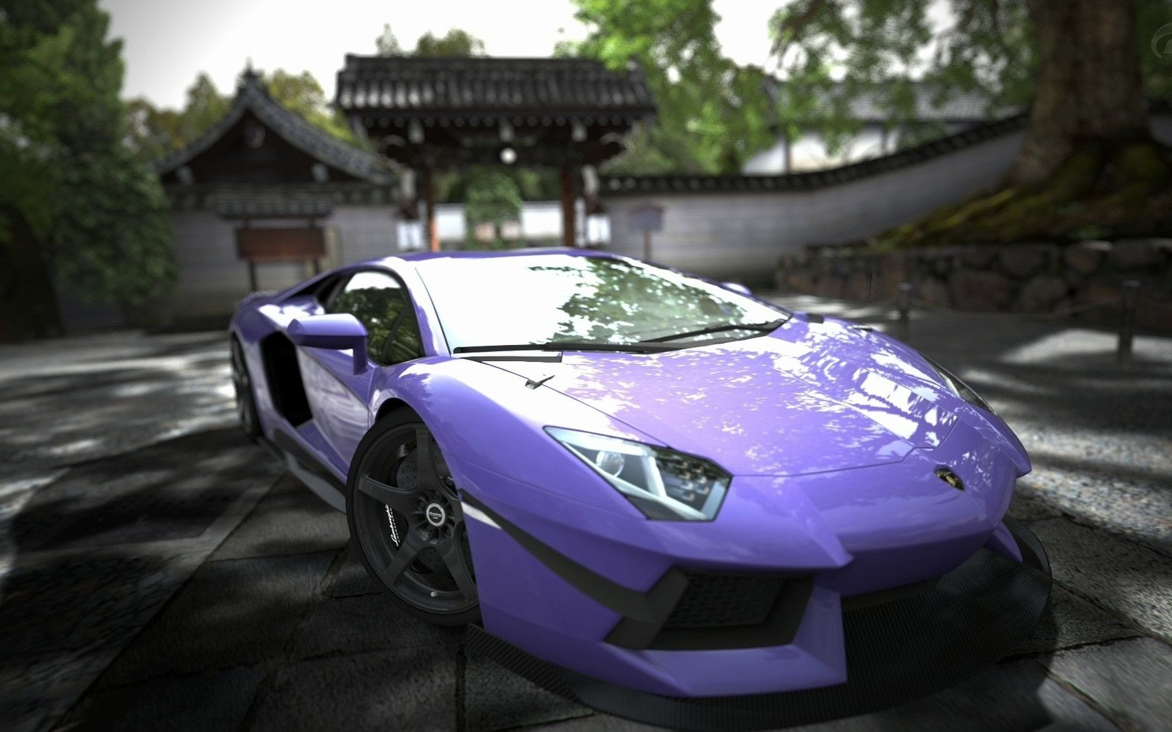 Lamborghini Aventador Purple Wallpaper Download Wallpaper 1680x1050