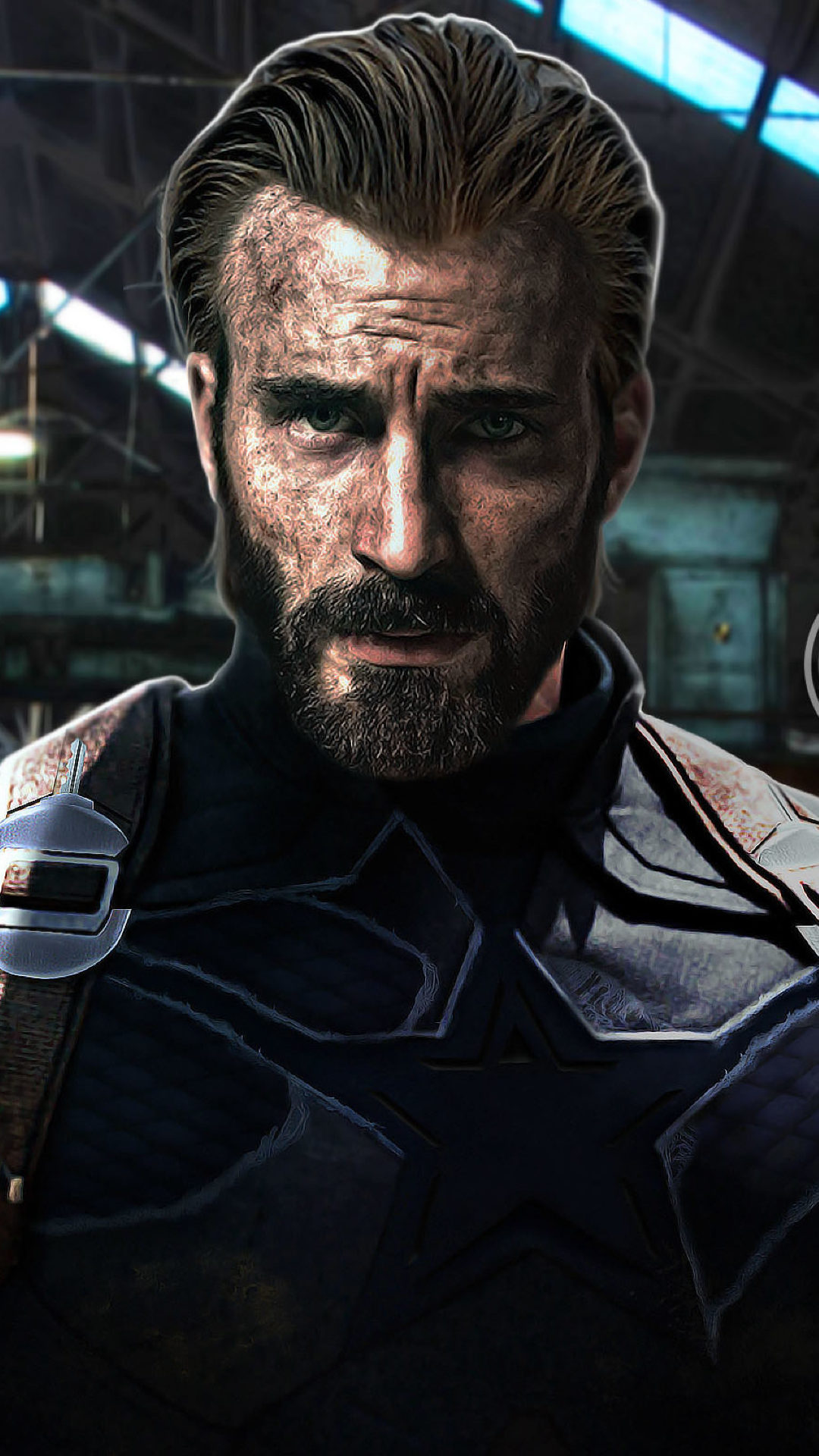 1080x1920 Captain America Beard Look In Infinity War Iphone 7 6s 1080x1920