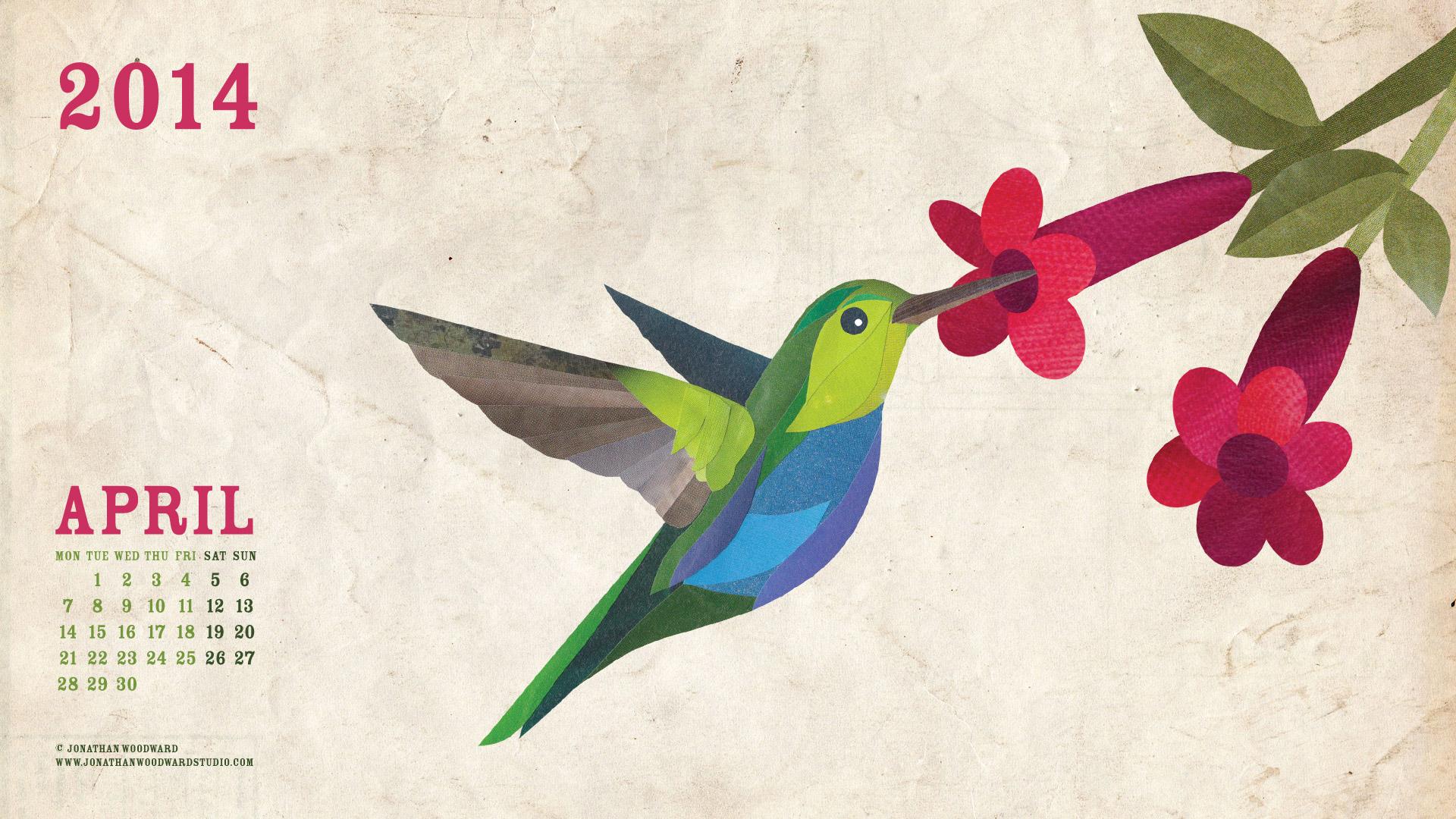 The April 2014 Desktop Wallpaper Jonathan Woodward Studio Wildlife 1920x1080