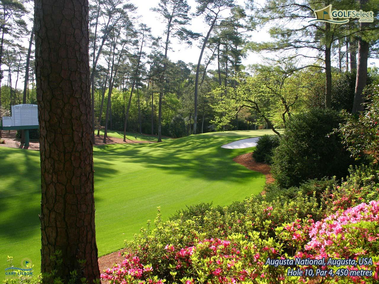 Golf Wallpaper – Augusta National – Hole 10, Par 4, 450 metres