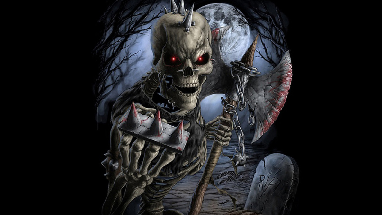 Scary skull wallpapers wallpapersafari - Scary skull backgrounds ...