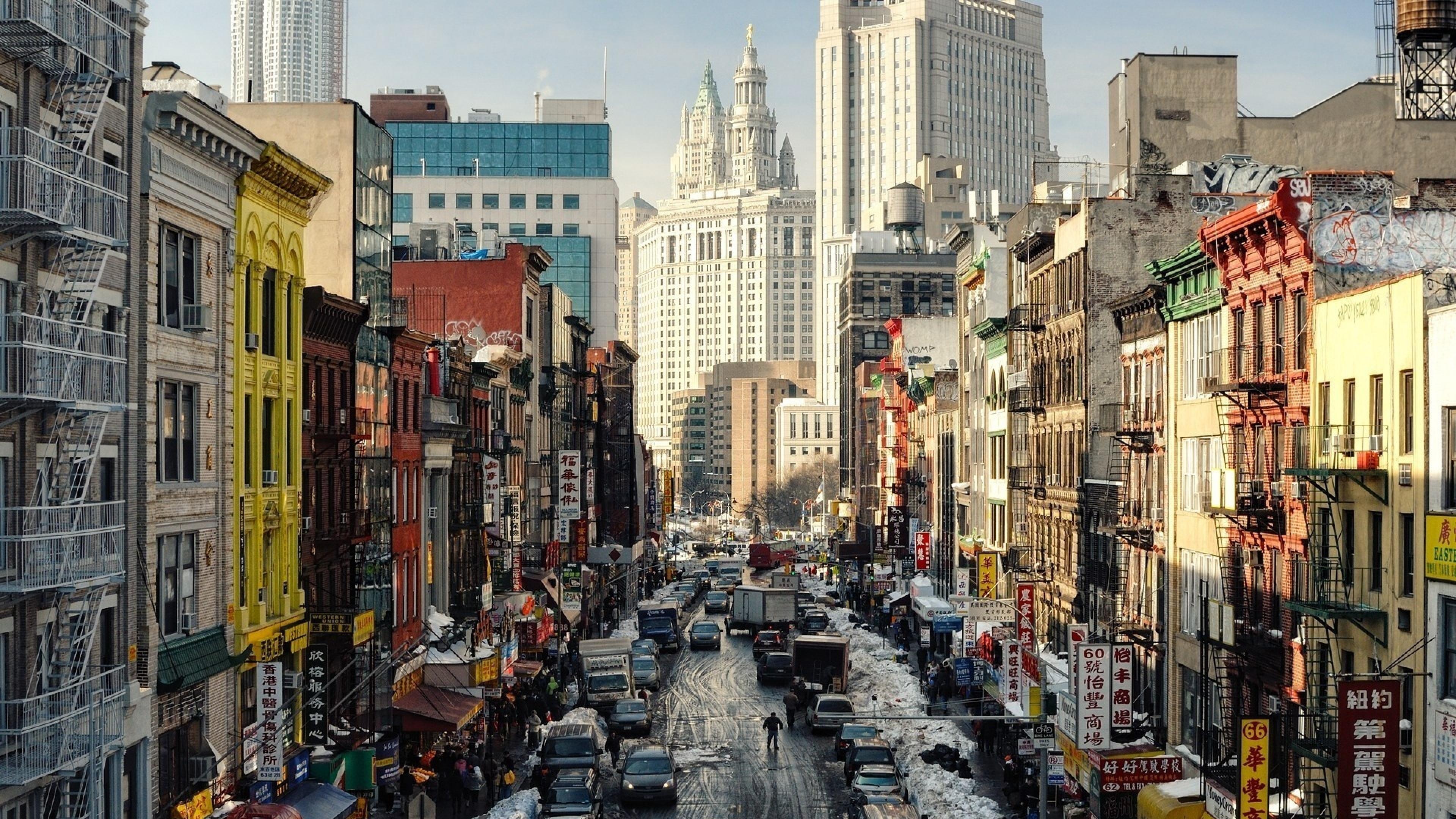 New York City Wallpaper Winter New York City 4K Wallp...