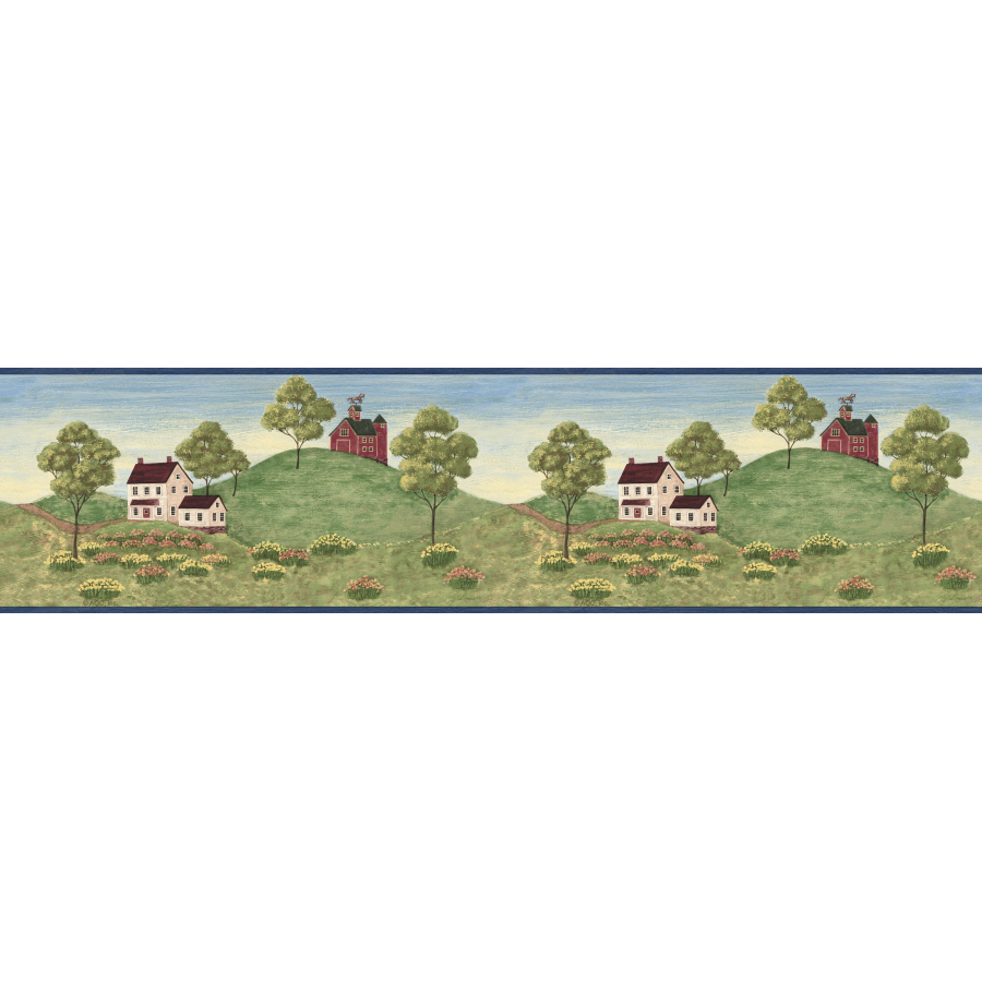 Country Hillside Prepasted Wallpaper Border at Lowescom 900x900
