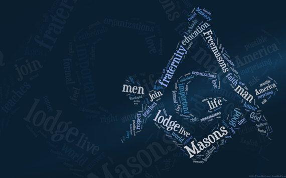 Masonic Freemason Typography Wallpaper Forth part of a Circle 570x356