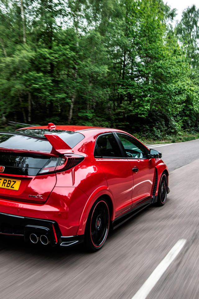 Civic Type R Red RHD 2015 HD Wallpaper 6267 640x960