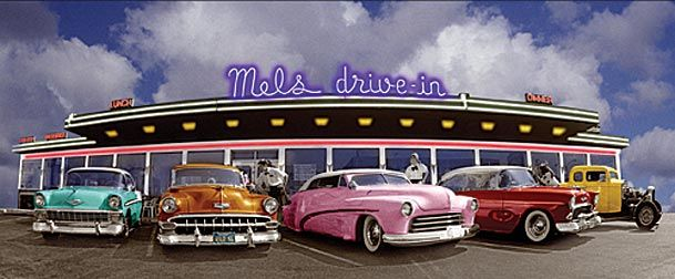 50s Diner Background Fifties diner photo background 609x252