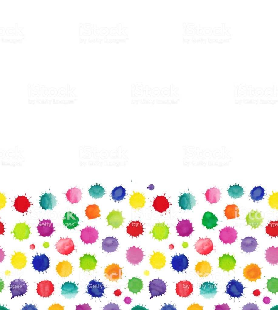 Watercolor Confetti Isolated Abstract Spot Background Stock 917x1024