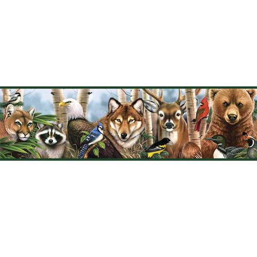 Wallpaper Borders Murals On Sale   Rocky Mountain Cabin Decor 500x500