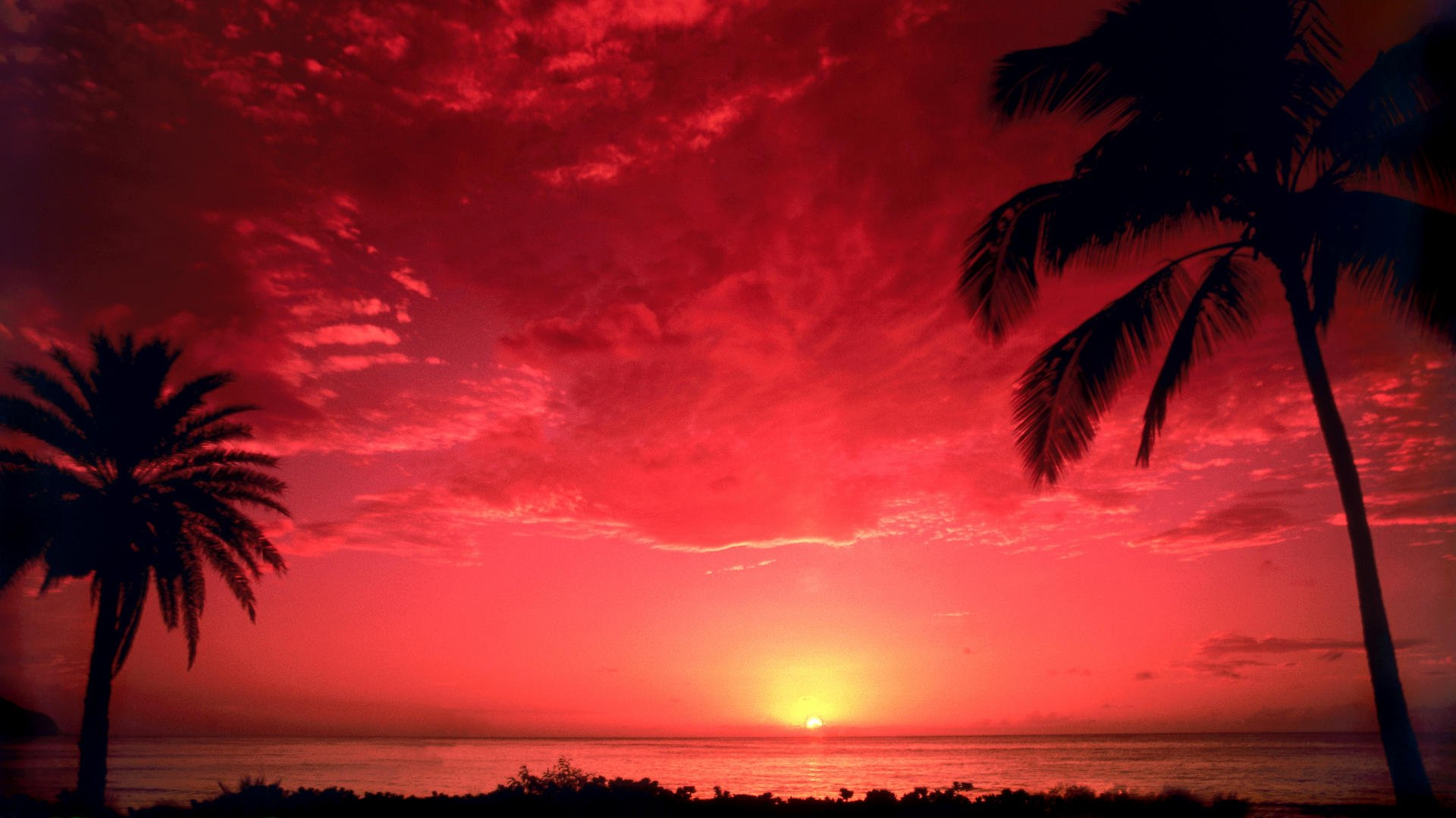 Sunset Desktop Backgrounds and Wallpaper   South Pacific Sunset 1920x1080