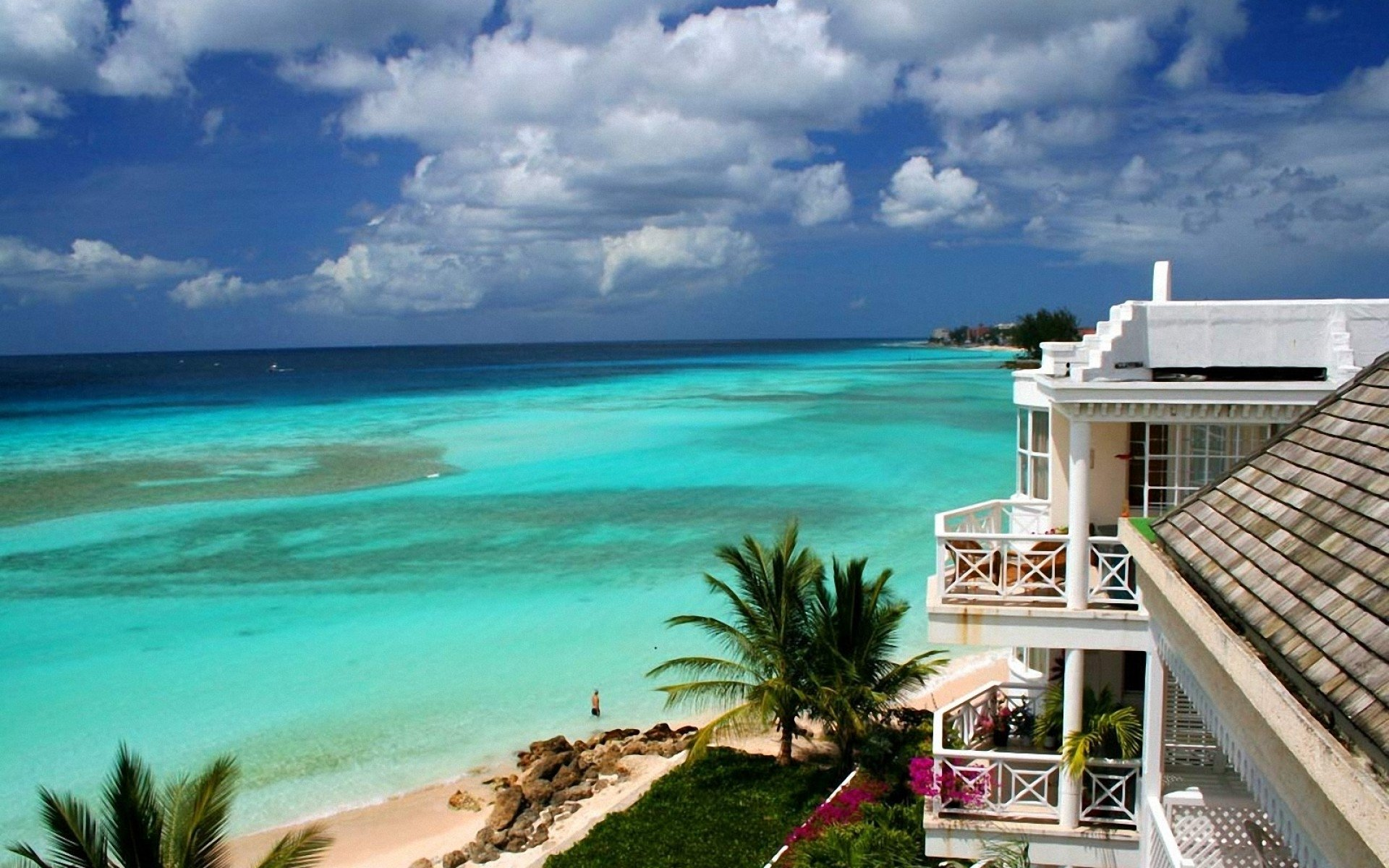 House on the Beach in Barbados HD Wallpaper Background Image 1920x1200