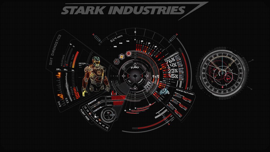 JARVIS Iron Man Red Wallpaper by edreyes 1024x576