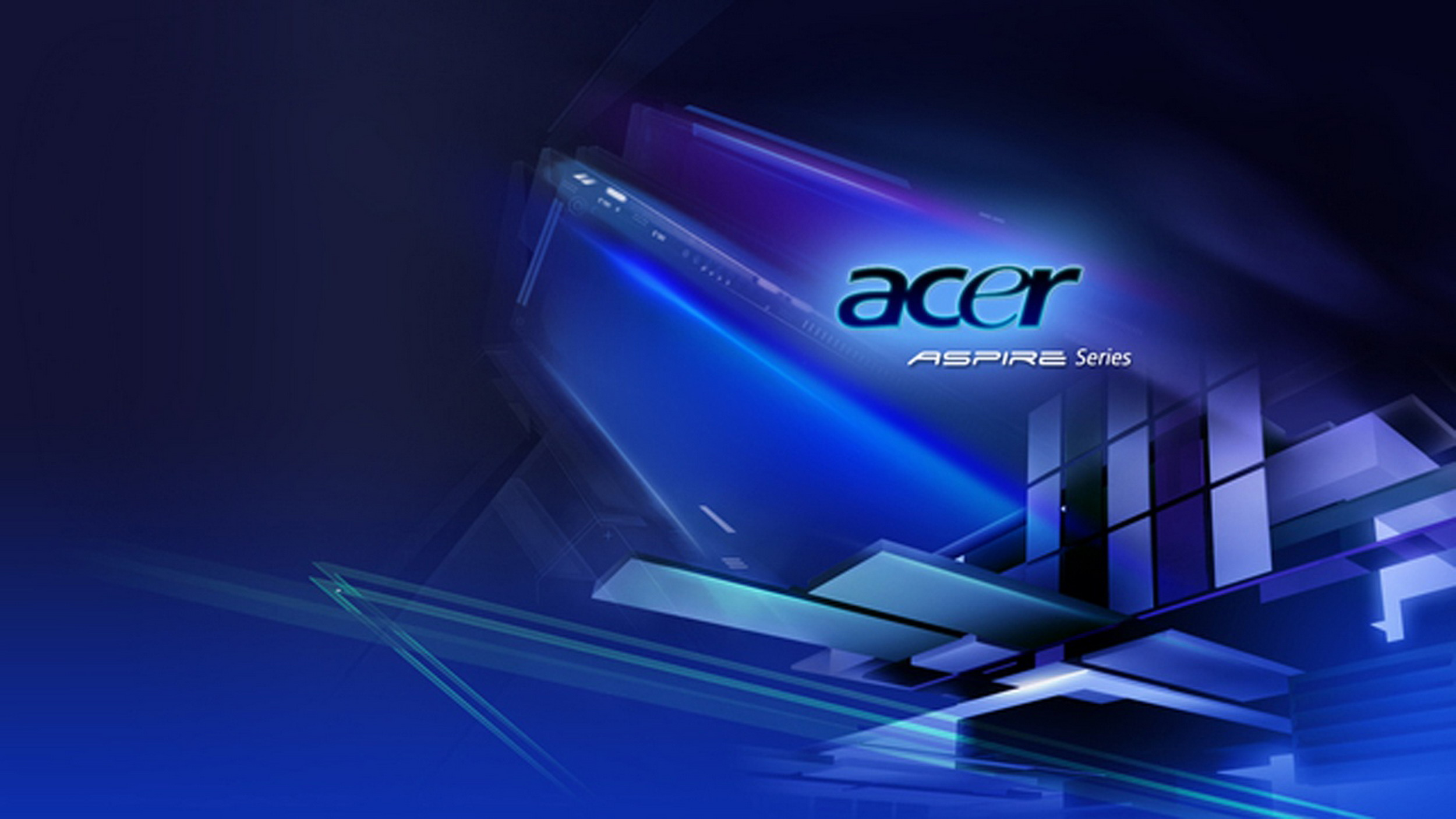 Acer Aspire Blue Logo Wallpaper Desktop 7570 Wallpaper 2500x1405