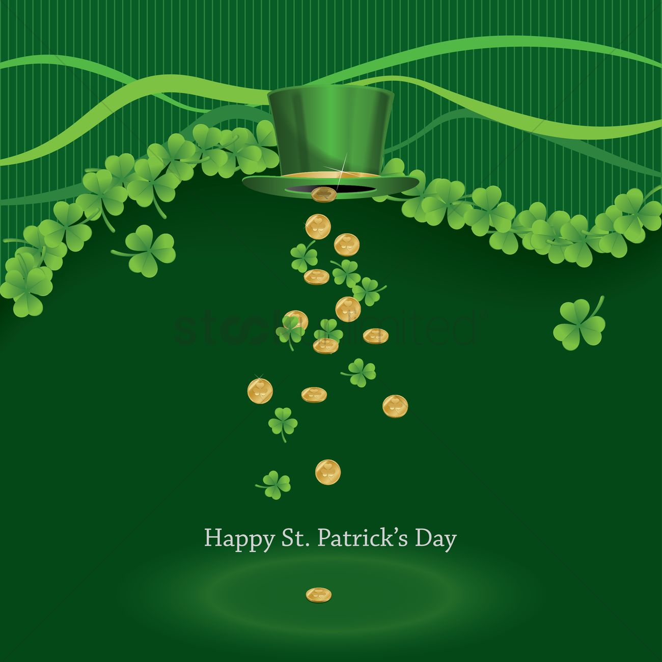 Free Download Happy Stpatricks Day Wallpaper Vector Image