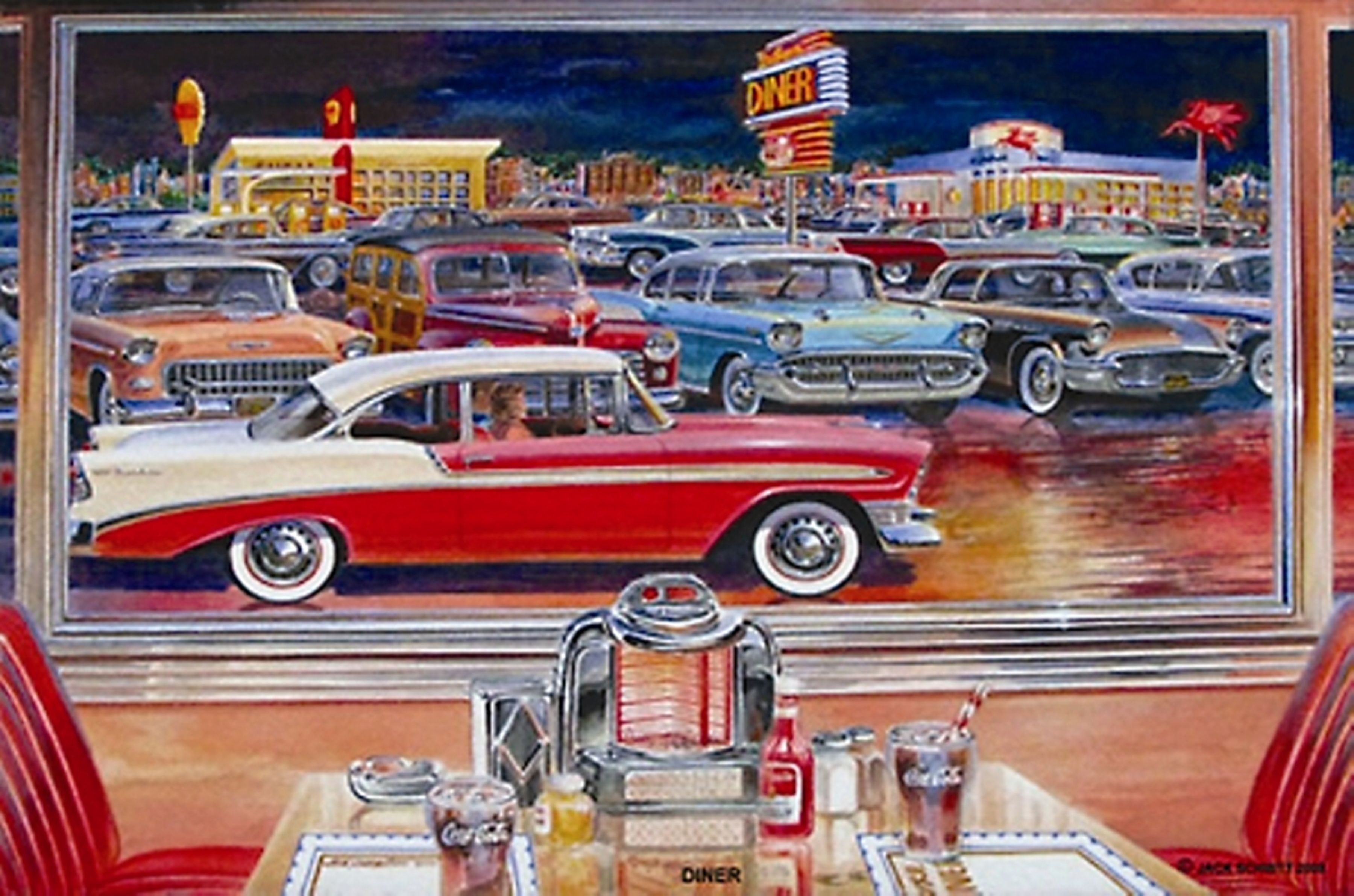 American Diner Wallpaper