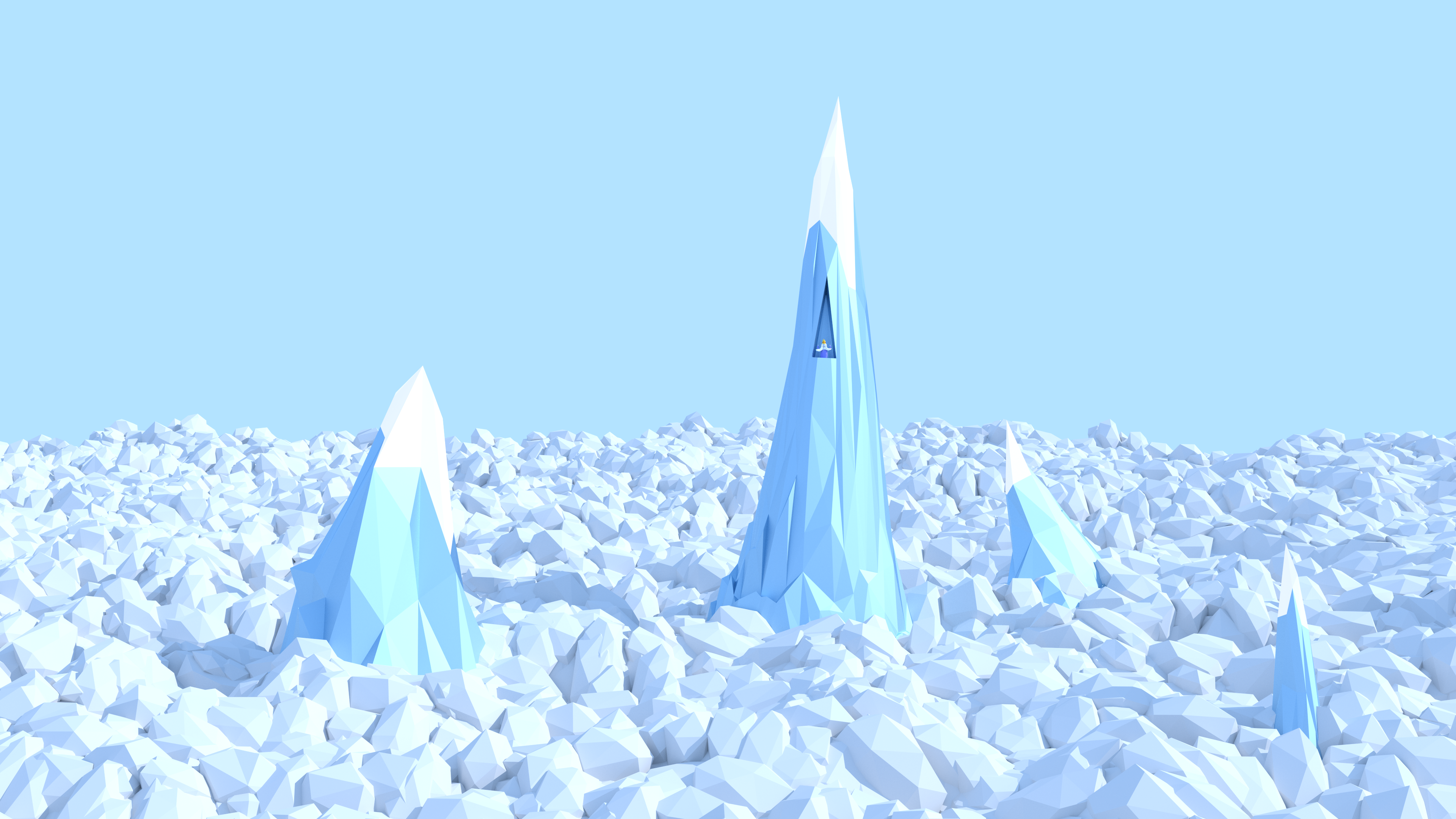 Low Poly Ice King by Vermacian55 3840x2160